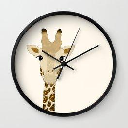 Golden Glitter Giraffe Wall Clock