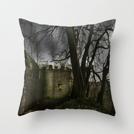 Castles in my Mind Throw Pillow