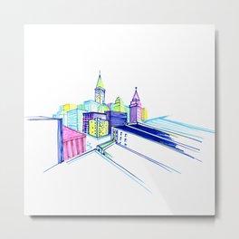 Vibrant city Metal Print