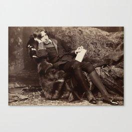 Oscar Wilde Lounging Portrait Canvas Print