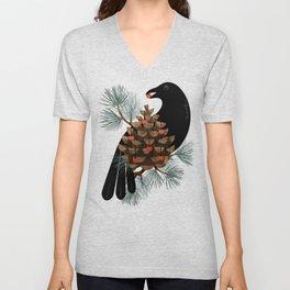 Bird & Berries Unisex V-Neck