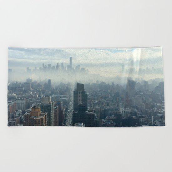 More Fog Less Smog Beach Towel