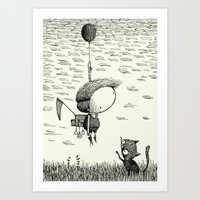 balloon Art Prints featuring 'Balloon' by Alex G Griffiths