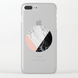 Marble Collage Clear iPhone Case