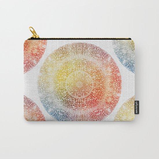 Pastel Rainbow Mandala Carry-All Pouch
