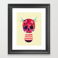 RED RED RED Cranium Framed Art Print