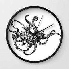 Henna Octopus Wall Clock