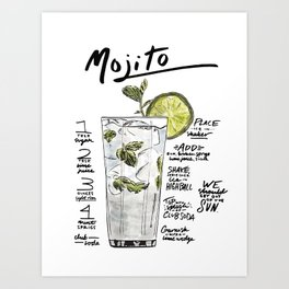 The Drink Collective: Mojito Art Print