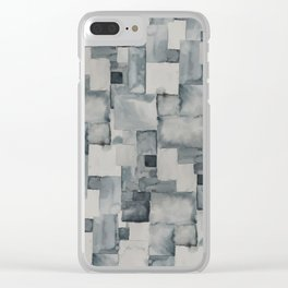 Pave Gray Clear iPhone Case