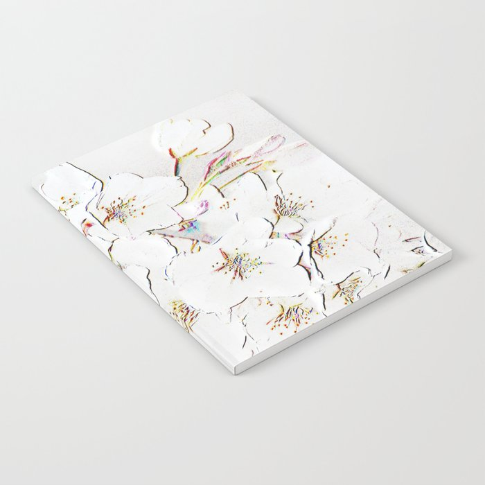 BLOSSOMS IN WHITE Notebook