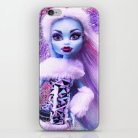 monster high iPhone & iPod Skins featuring Monster High Abbey Doll MHSQ by Renée