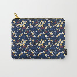Yellow Clematis Floral Pattern Carry-All Pouch