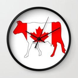 Canada Cow Wall Clock