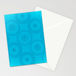 Blue Blue Circles Stationery Cards