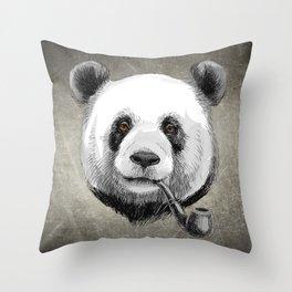 Sketch Panda Throw Pillow