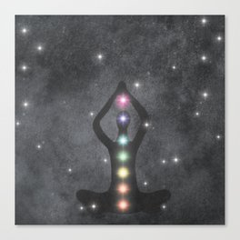 My Chakras Are A Rainbow Canvas Print