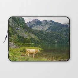 Cow in the Alps   Königssee, Germany (Europe)   Colorful Travel Photography Laptop Sleeve