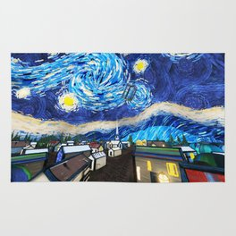 Tardis City Starry Night Rug