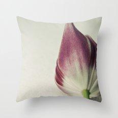 Snow Tulip Throw Pillow