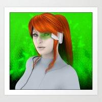 cyberpunk Art Prints featuring Cyberpunk  by miz-inthesky
