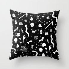 spooky halloween pattern throw pillow - Halloween Pillows