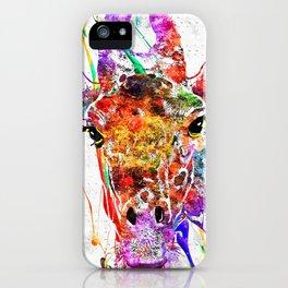 Giraffe Grunge iPhone Case