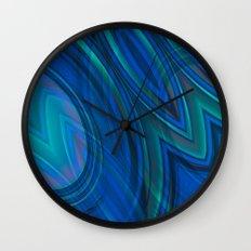 Mood Ring in Blues Wall Clock