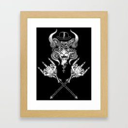 Middle Fingers Crossed Framed Art Print