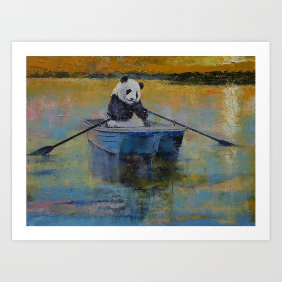 Panda Reflections Art Print