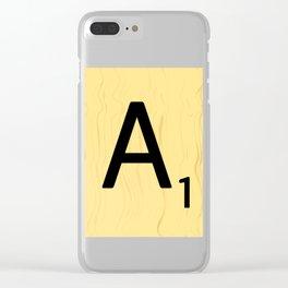 Scrabble A Decor, Scrabble Art Prints, Large Scrabble Prints, Word Wall Art, Home Decor, Wall Decor Clear iPhone Case