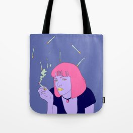 Chilling with a cig Tote Bag