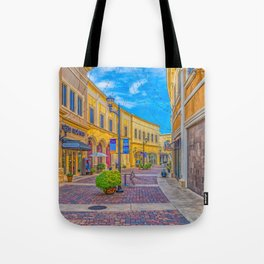 Street Scape in Yellow Tote Bag