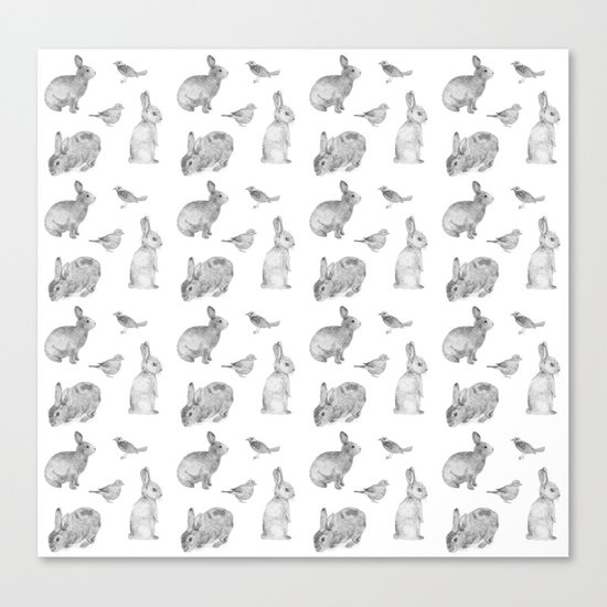 Bunny & Bird Canvas Print