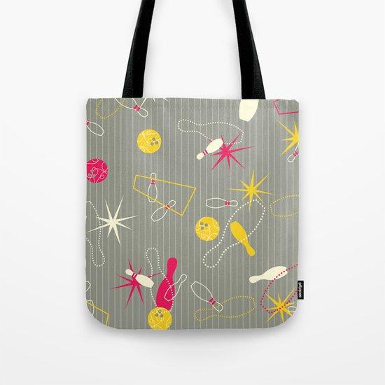 Bowling Pinstripe Tote Bag