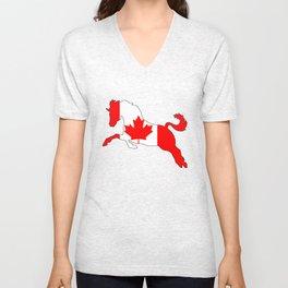 """Horse """"Canada"""" #2 Unisex V-Neck"""