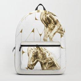 Golden Horse Backpack