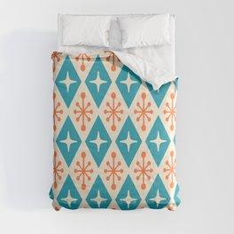 Mid Century Modern Atomic Triangle Pattern 107 Comforters