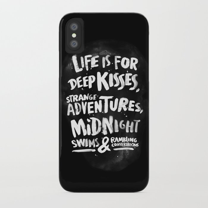 Life is for deep kisses... iPhone Case
