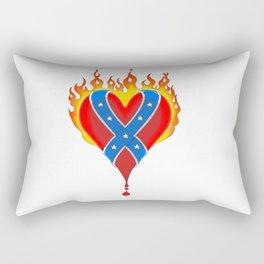 Flaming Rebels Bleeding Heart Rectangular Pillow