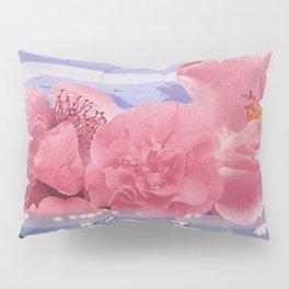 Floral Flamingos Pillow Sham
