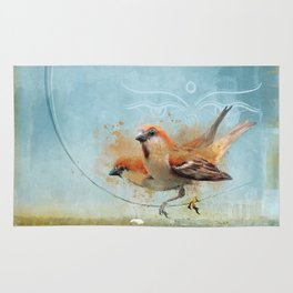 Kathmandu Cinnamon Sparrows Rug