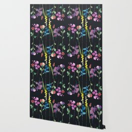 Mirror Flowers at Night Wallpaper