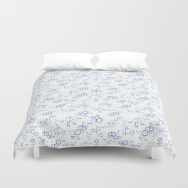 Blue Molecules Duvet Cover