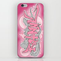 grafitti iPhone & iPod Skins featuring grafitti drawing by ItsFahmi