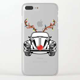 reindeer bumblebee Clear iPhone Case