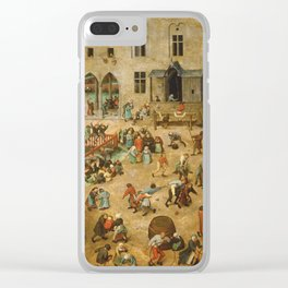 Pieter Bruegel The Elder - Children s Games Clear iPhone Case
