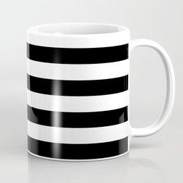 Black and White Stripped Pattern | Minimalist Coffee Mug