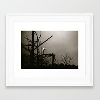 crane Framed Art Prints featuring crane by Soulexperience