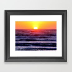 Colorful Sunset Waters Framed Art Print