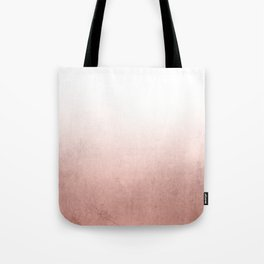 Rose Gold Ombre Tote Bag